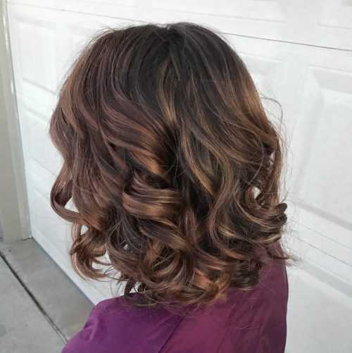 Picture of a dreamiest curled shoulder length hair