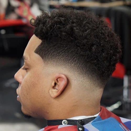 Mid Taper Haircut Curly Hair 39
