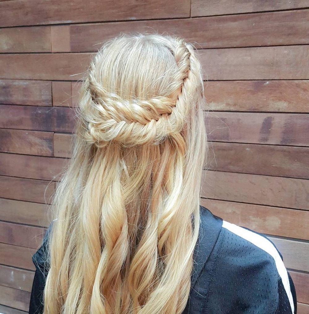 Dutch Fishtail Crown Braid hairstyle