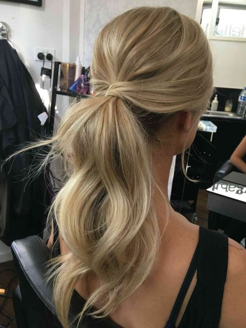 Ponytail for women with long hair