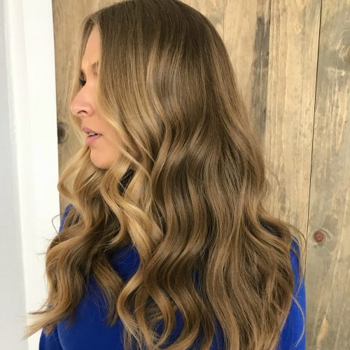 Picture of easy soft curls a long simple hairstyle