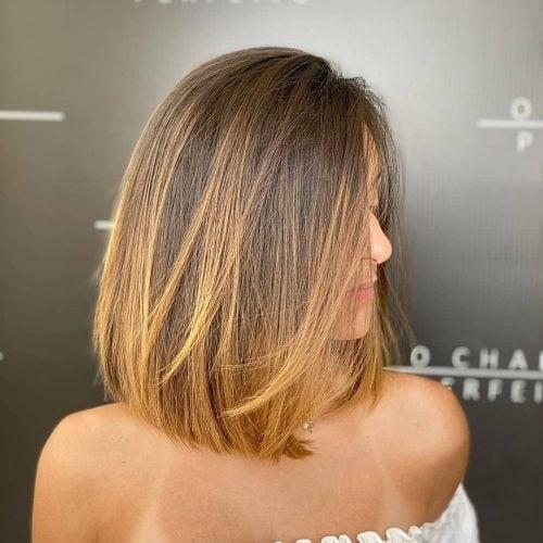 easy straight layered bob for medium hair