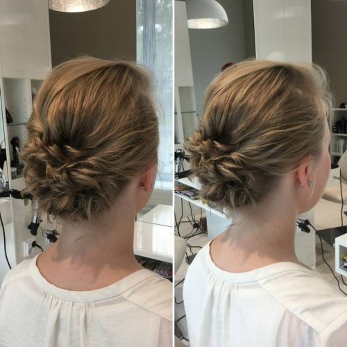 updo styles for short hair 24 cutest updos for hair of 2018 hairstyles 4527 | easy low messy bun