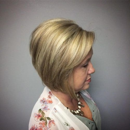 Easy to Style A-Line hairstyle for older ladies
