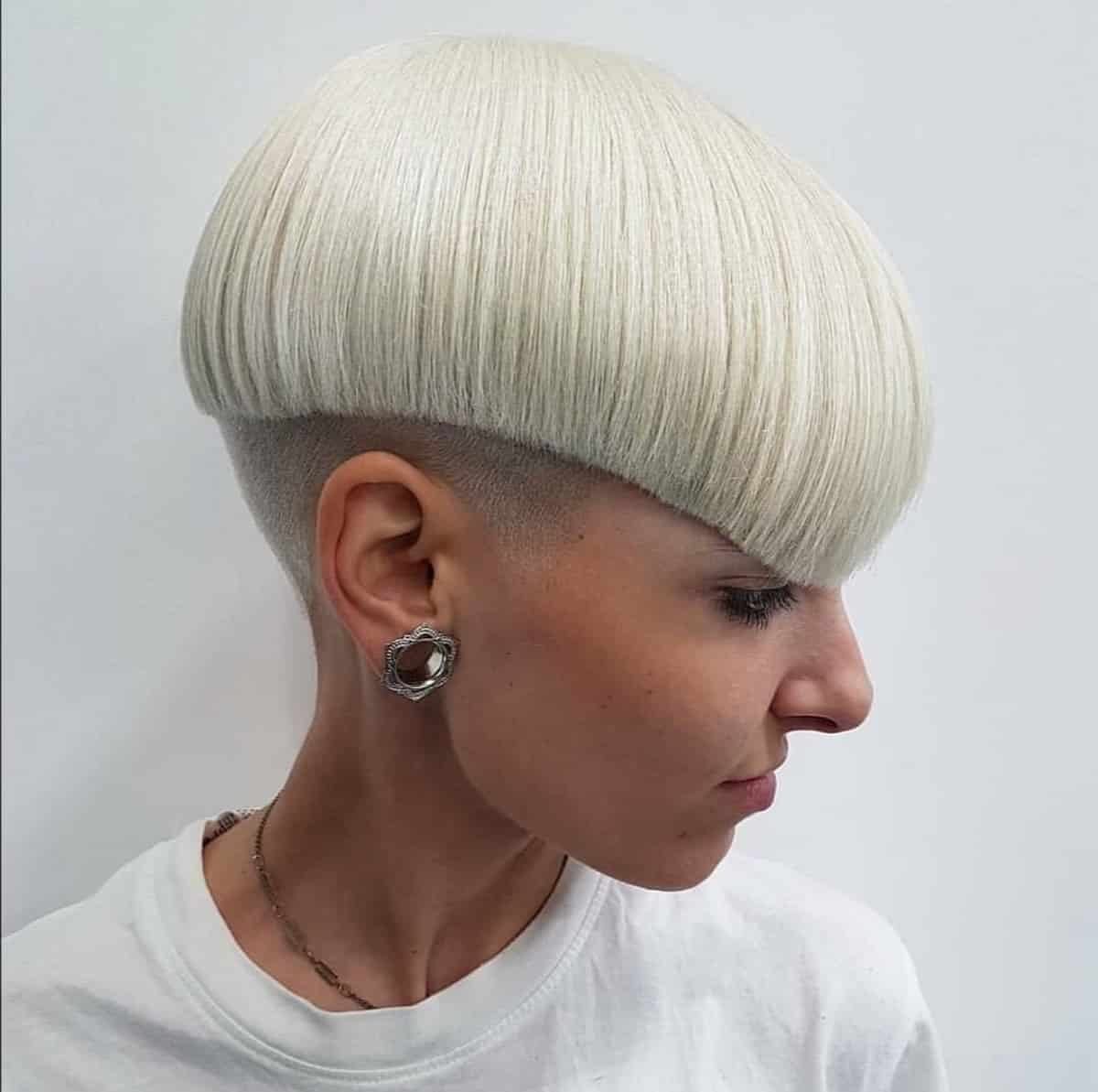 Edgy bow haircut for women