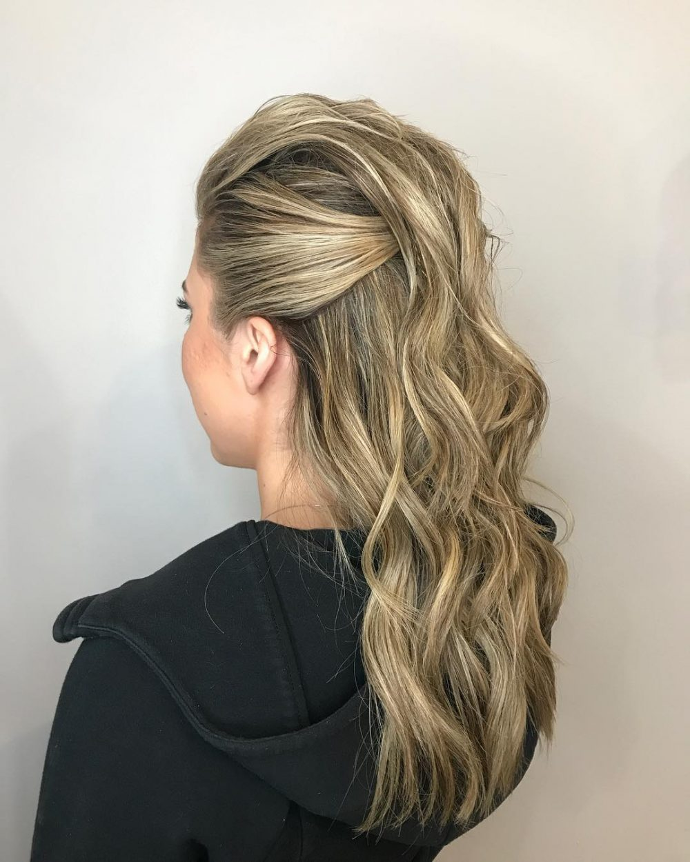 Edgy Half Up Style hairstyle