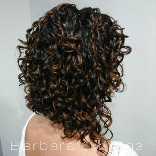 Edgy Inverted Bob for Thick Curly Hair