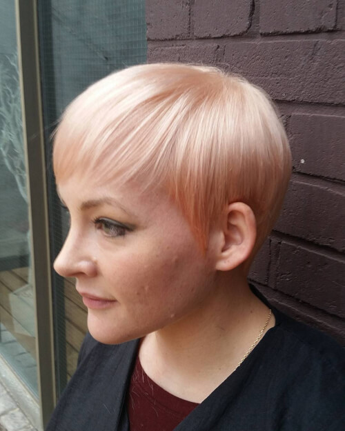 edgy long textured pixie haircut
