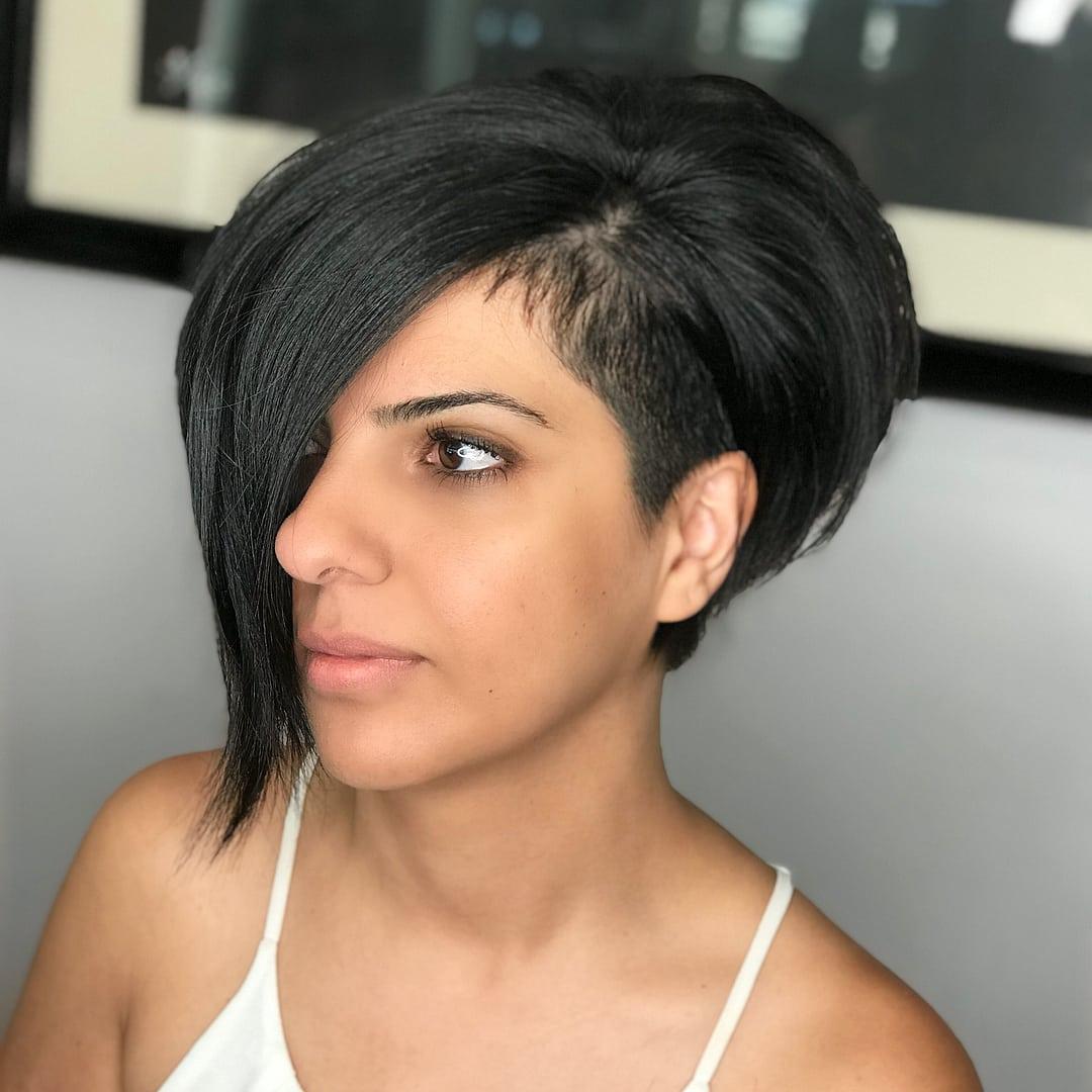 corte nervioso en el pelo corto para chicas jóvenes