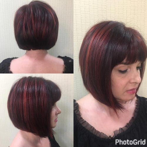 Edgy Red Bob hairstyle