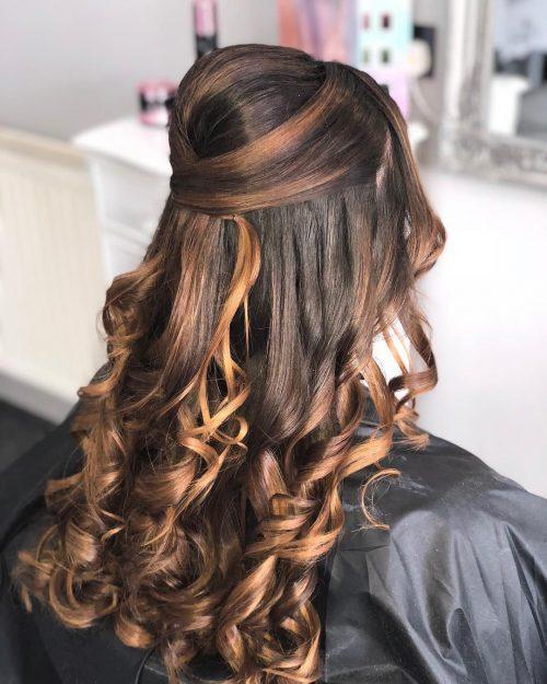 Picture of effortless half up elegant hairstyles