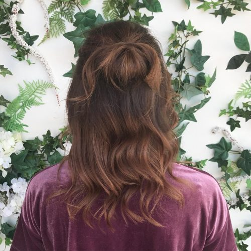 Effortless Spring Knot hairstyle