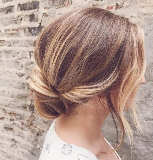 25 Best Updos For Medium Hair In 2019