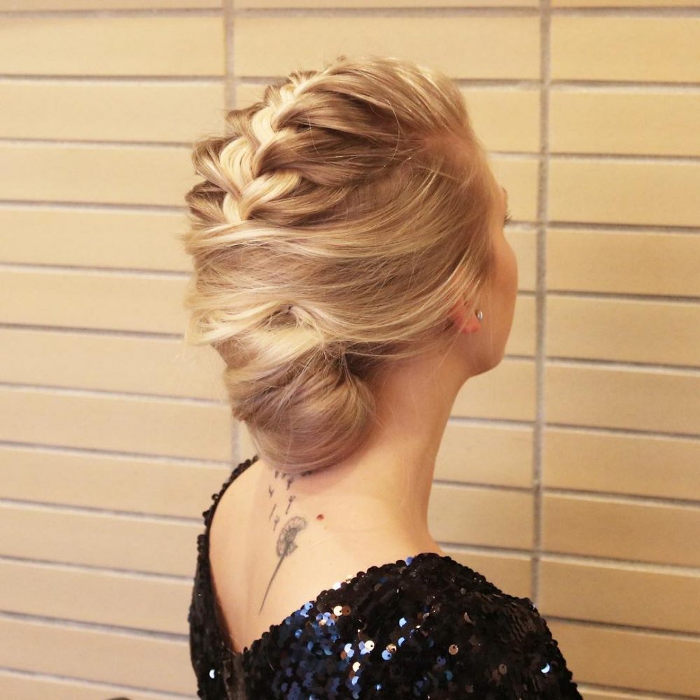 Elegant French Braided Twist hairstyle