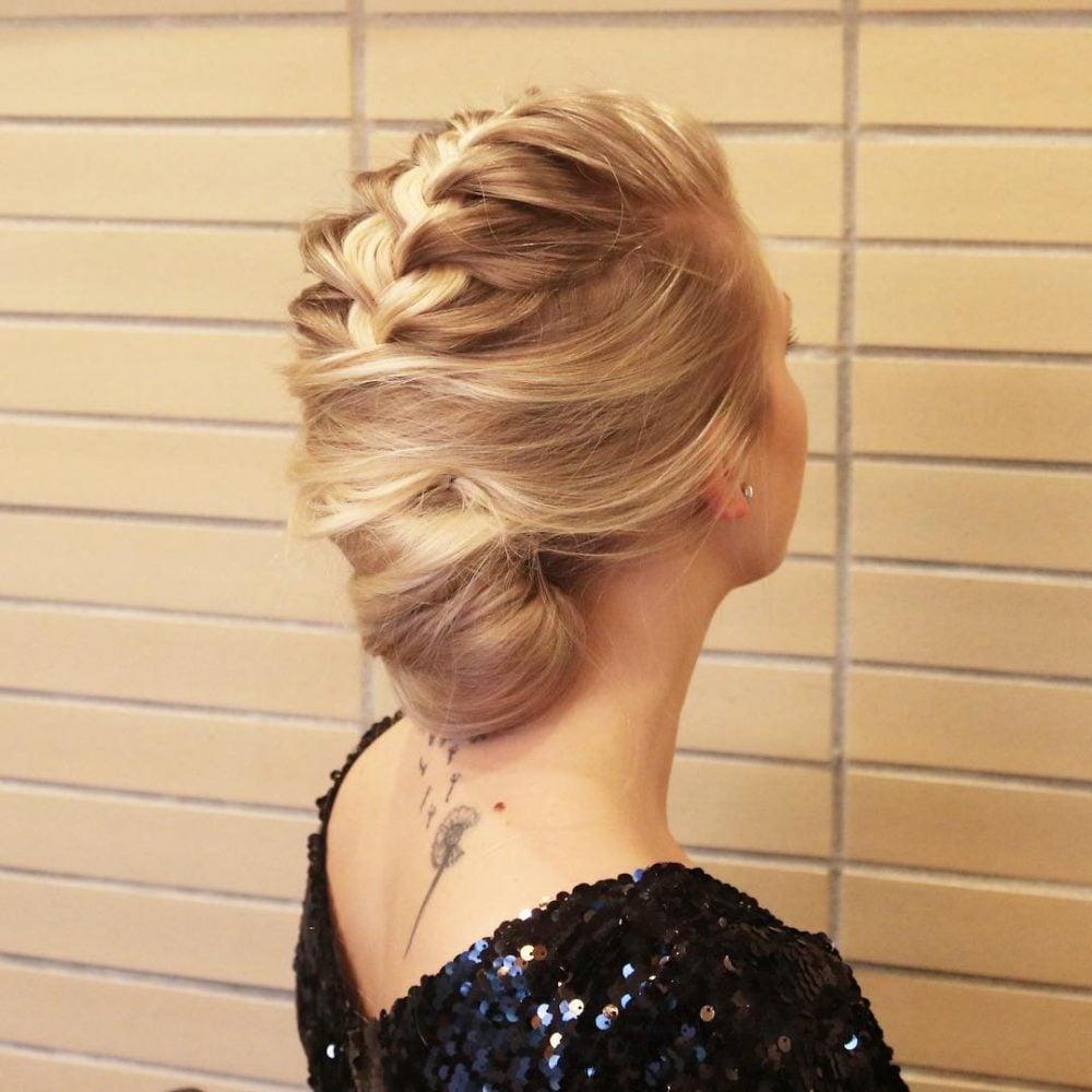 Elegant French Braided Twist hairstyle