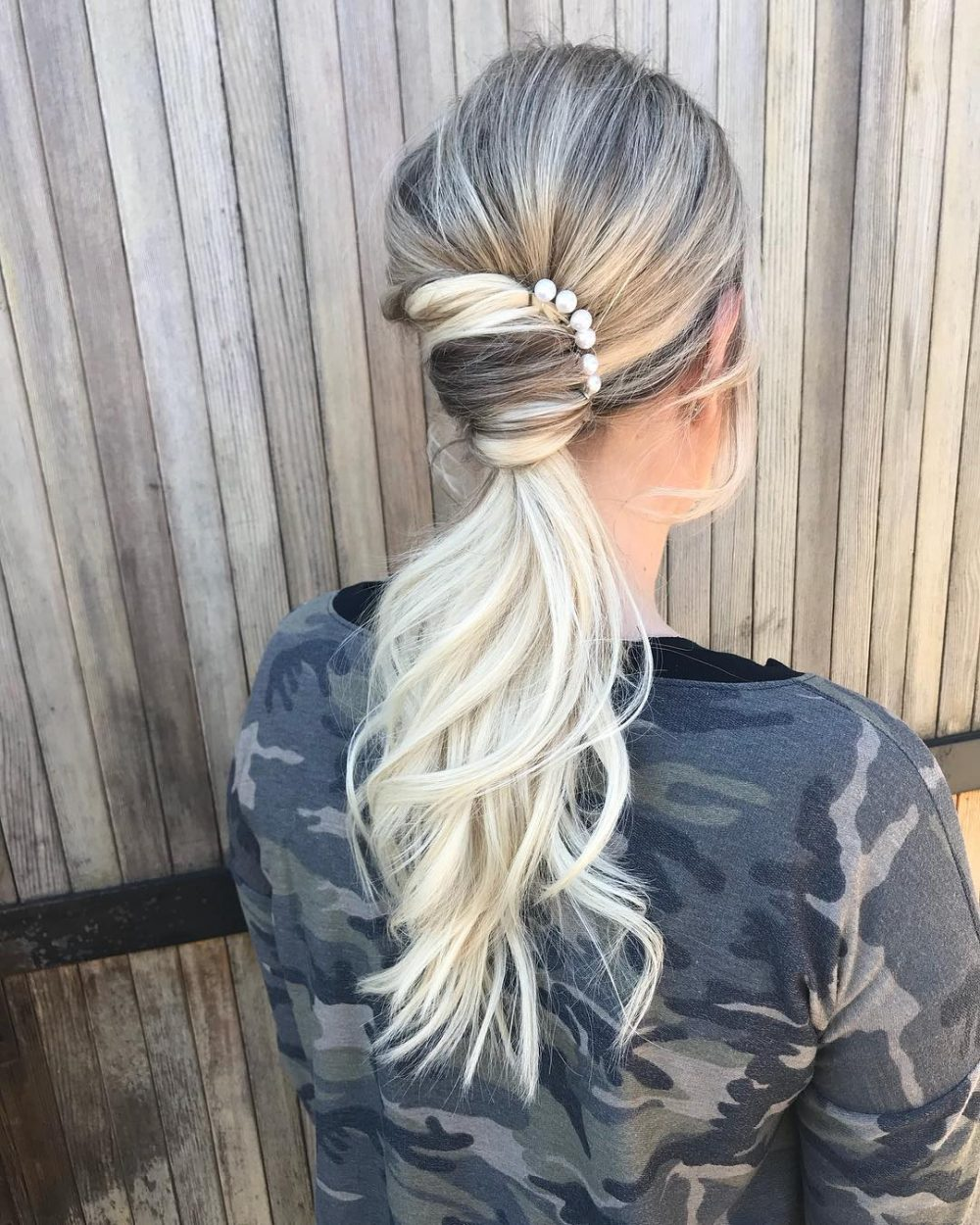 Elegant French Twist Ponytail hairstyle