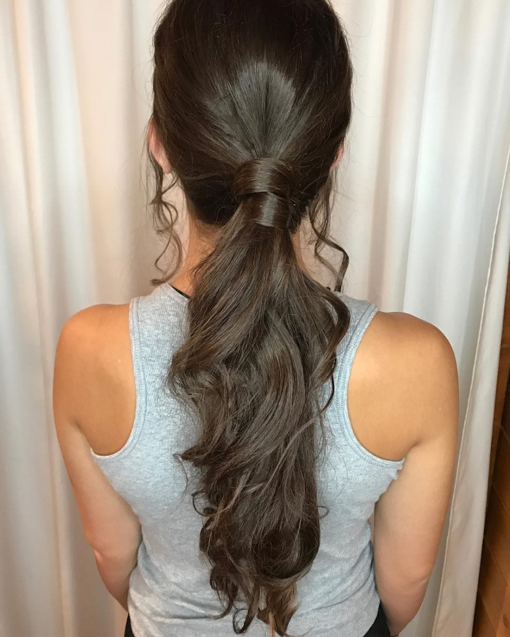 Elegant Low Ponytail hairstyle