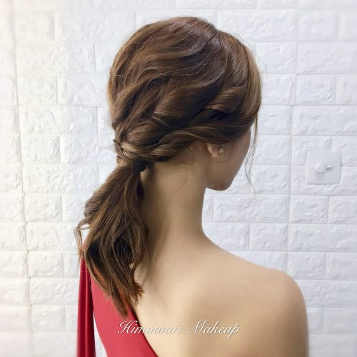 Picture of an elegant vintage low ponytail