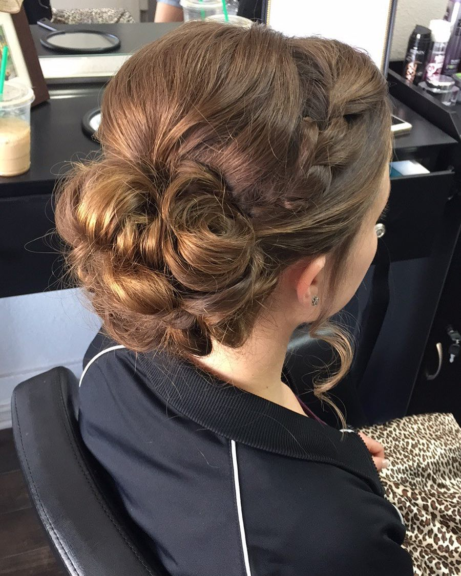 Elegant with a Twist hairstyle