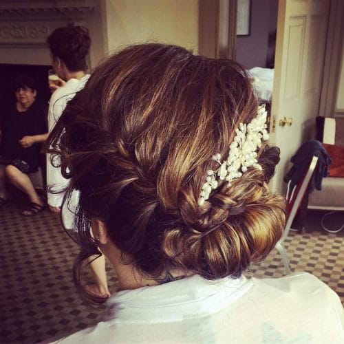 Elegant Yet Rustic hairstyle