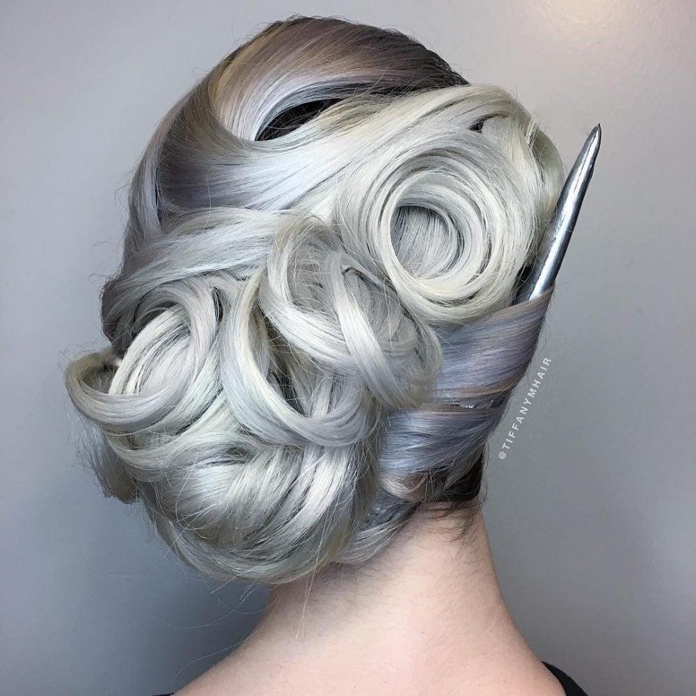 Elegantly Vintage hairstyle