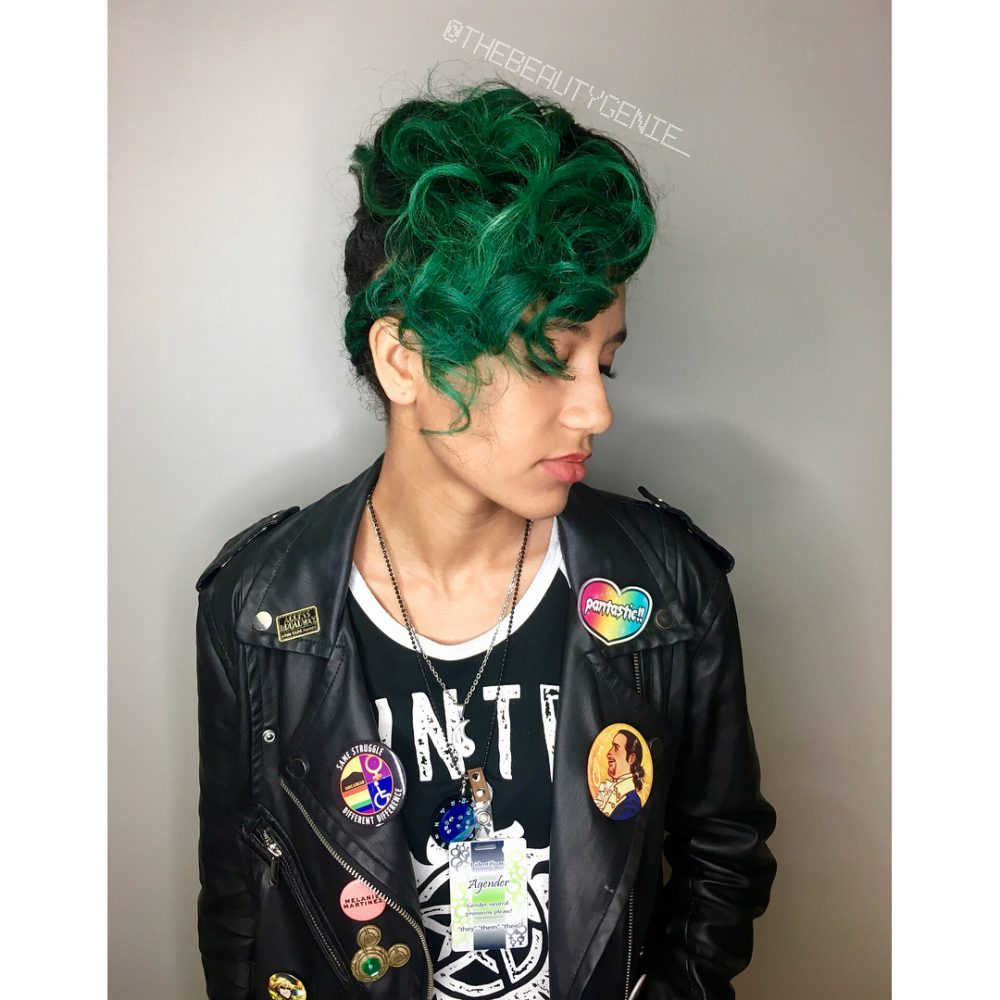 Emerald Green Faux Pixie hairstyle