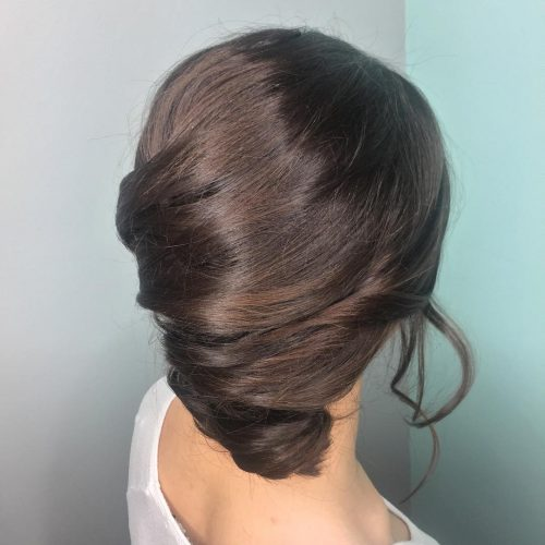 Picture of an enchanting espresso brown with a French twist