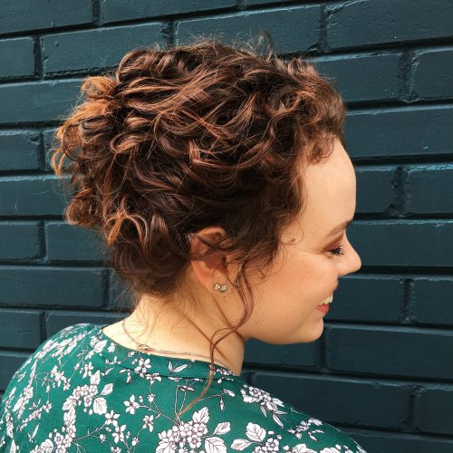 Picture of enhanced curly updo