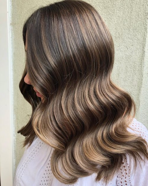 Picture Of An Evening Out Waves Caramel Brown