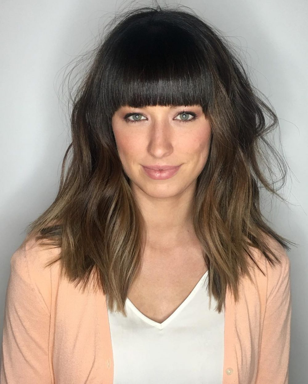 36 Popular Medium Length Hairstyles With Bangs (Updated ...