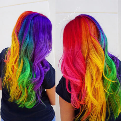 29 Colorful Rainbow Hair Ideas Trending in 2019!