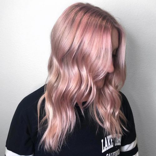 Picture of a fabulous silver rose gold hair