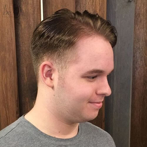 fade haircut with length on top