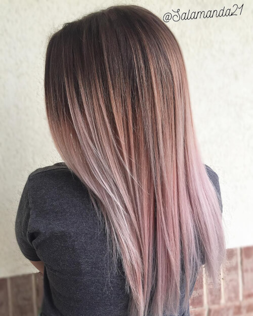 faded pastel balayage hair color