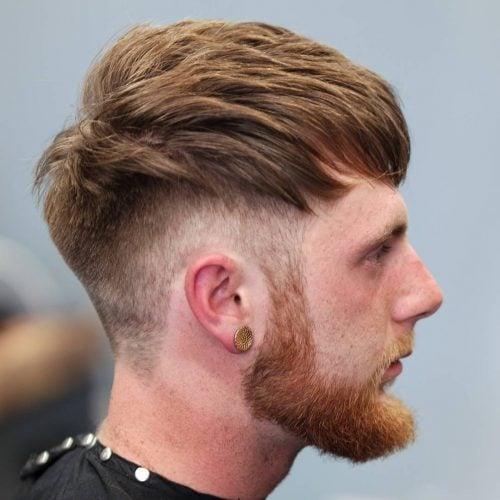 Undercut Fade untuk Rambut Tebal Panjang Sedang
