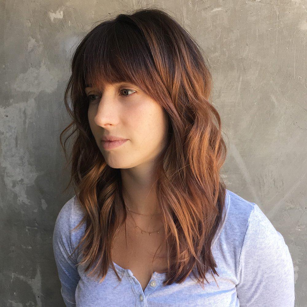Fall-Inspired Modern Shag hairstyle