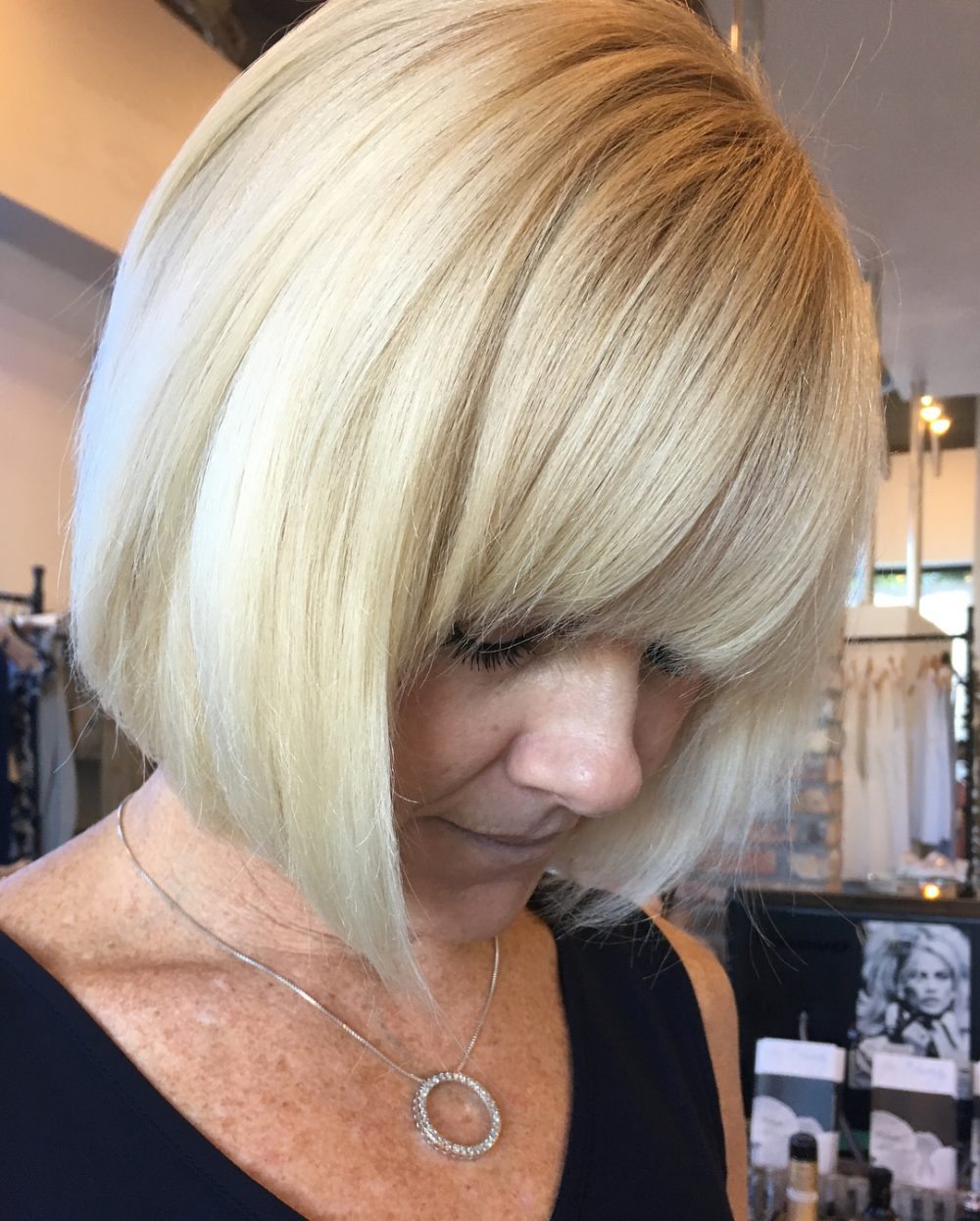 Fashion-Forward Chin Length Bob for Older Women