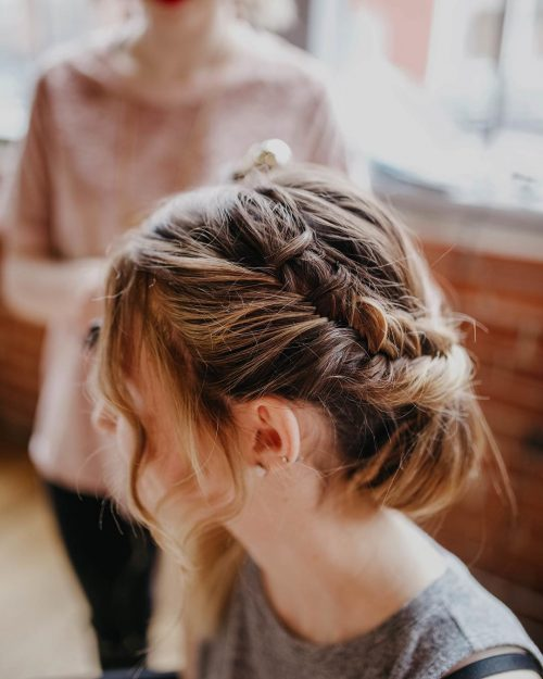 Picture of a fashionable fishtail updo
