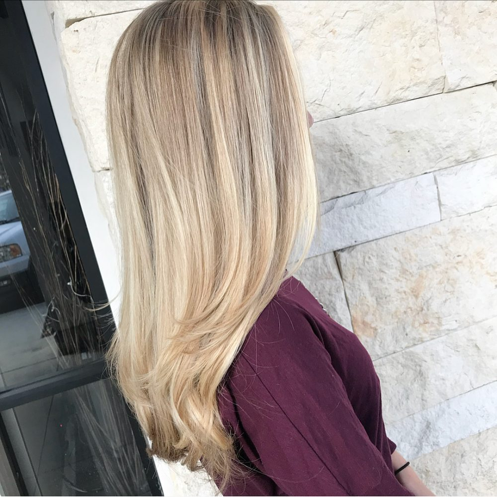 Faux Natural Blonde hairstyle