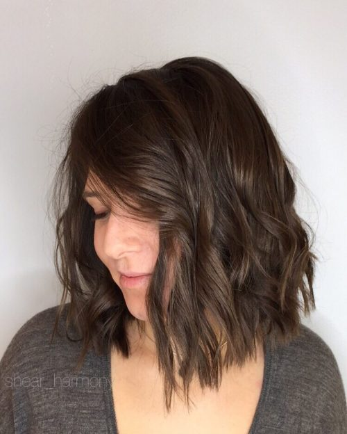 Picture of a faux one length casual hairstyle