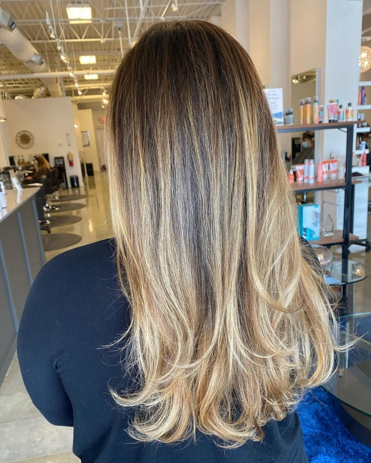 Feathered Layers for Straight Long Hair