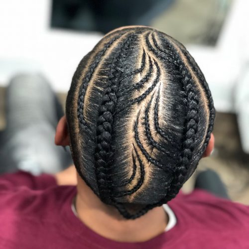 Feed in braids for men
