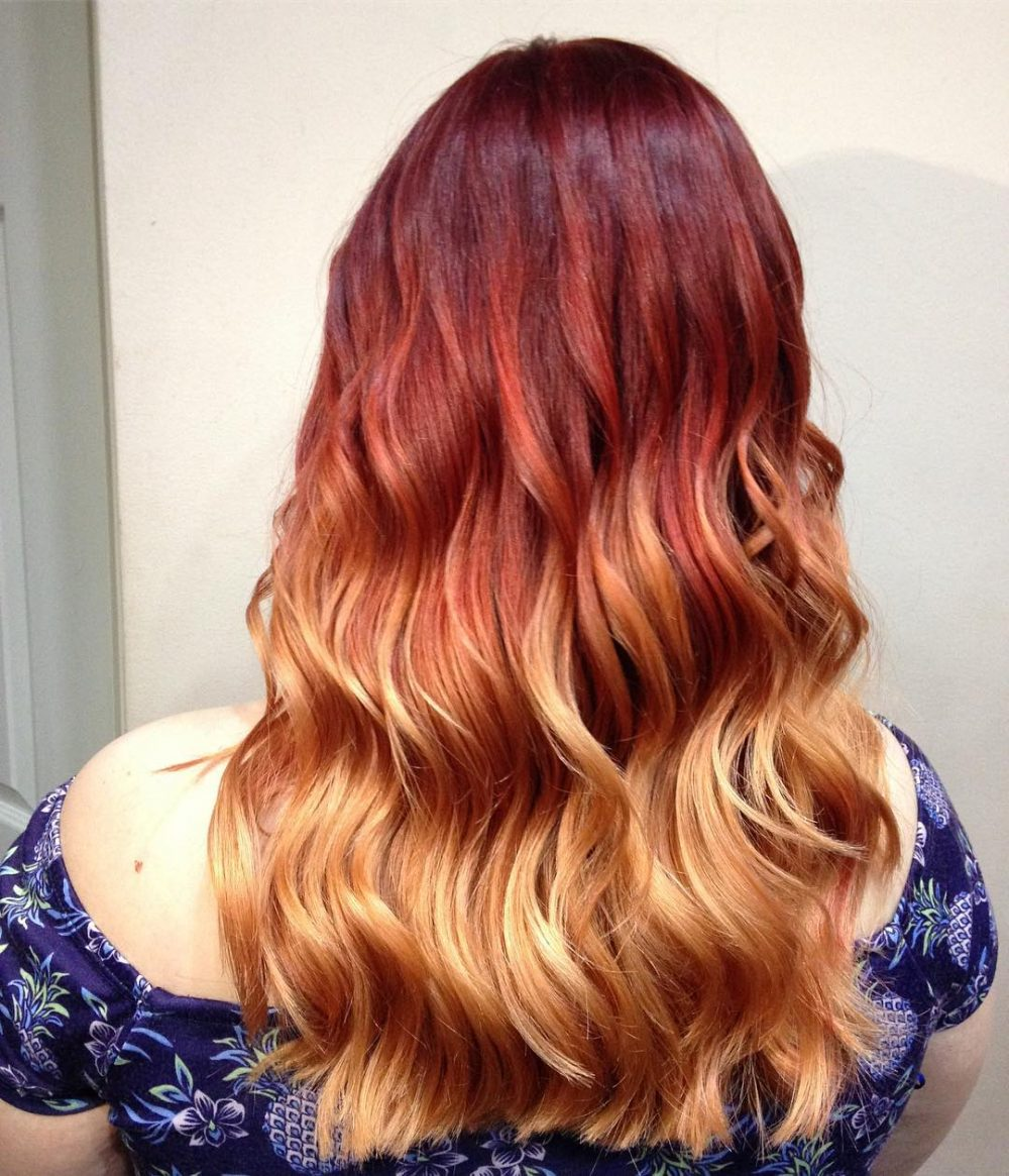 Fiery Ombre hairstyle