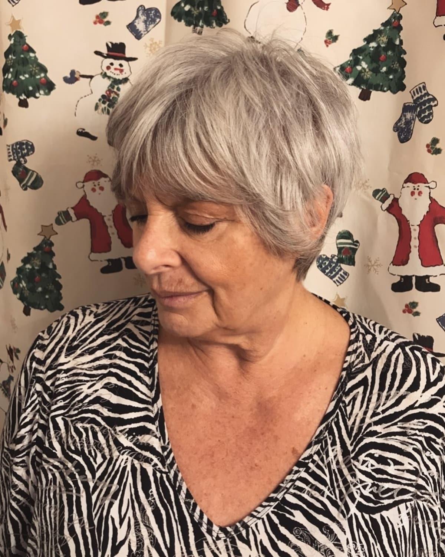 cabello bob peludo fino para mujeres mayores