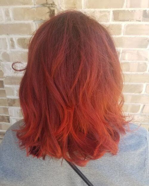 fire engine red hair color
