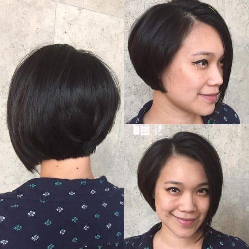 Flirty Asymmetrical Bob hairstyle