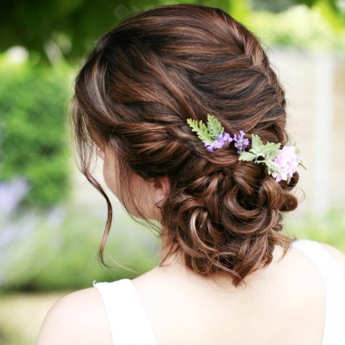 Picture of floral appeal wedding updo