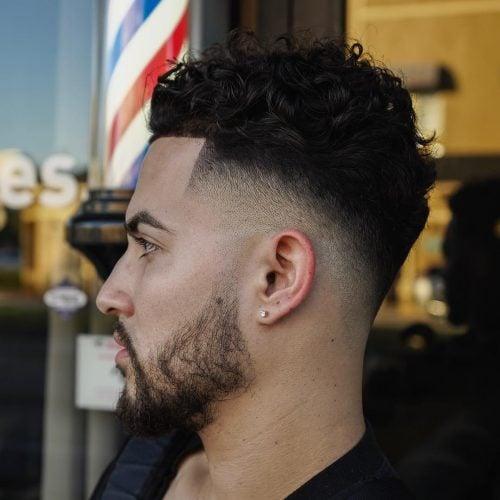 Fade Line Up para cabello rizado