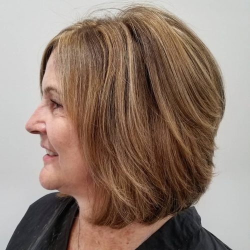 Thick Hair Shoulder Length Hairstyles For Women Over 50 83
