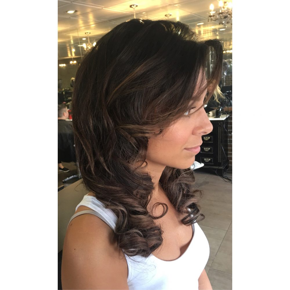 Formal Curl hairstyle